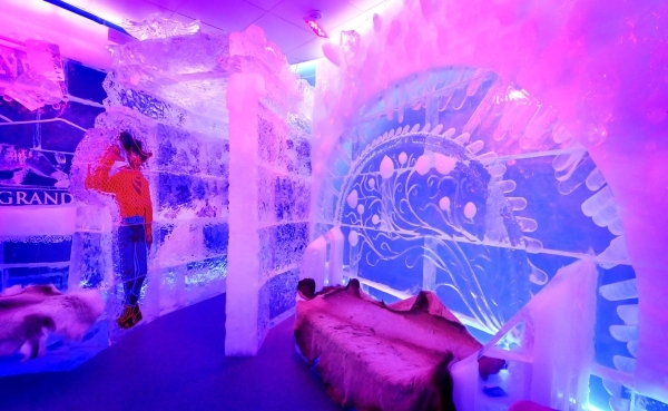 Part of the interior of the Minus5 Ice Bar is shown in The Shoppes at Mandalay Place at 3930 Las Vegas Blvd. S. on Friday, Feb. 5, 2016. Bill Hughes/Las Vegas Review-Journal