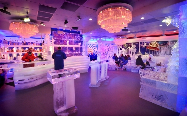 The interior of the Minus5 Ice Bar is shown in The Shoppes at Mandalay Place at 3930 Las Vegas Blvd. S. on Friday, Feb. 5, 2016. Bill Hughes/Las Vegas Review-Journal