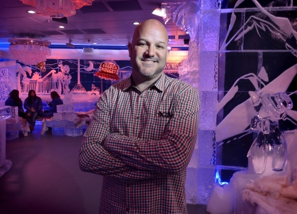 Noel Bowman, president of M5 Management, is shown at the Minus5 Ice Bar in The Shoppes at Mandalay Place at 3930 Las Vegas Blvd. S. on Friday, Feb. 5, 2016. Bill Hughes/Las Vegas Review-Journal