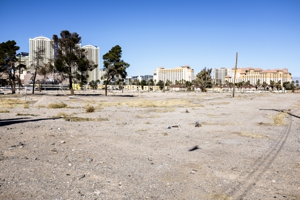 UNLV purchased a 42-acre parcel of land on Tropicana Avenue near Koval Lane in 2015. Ulf Buchholz/Las Vegas Business Press.