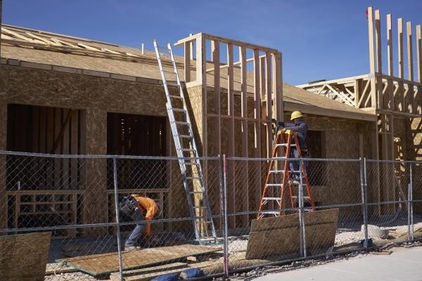 Construction is progressing on Elkhorn Memory Care at 7195 N. Decatur Blvd. Ulf Buchholz/Las Vegas Business Press.
