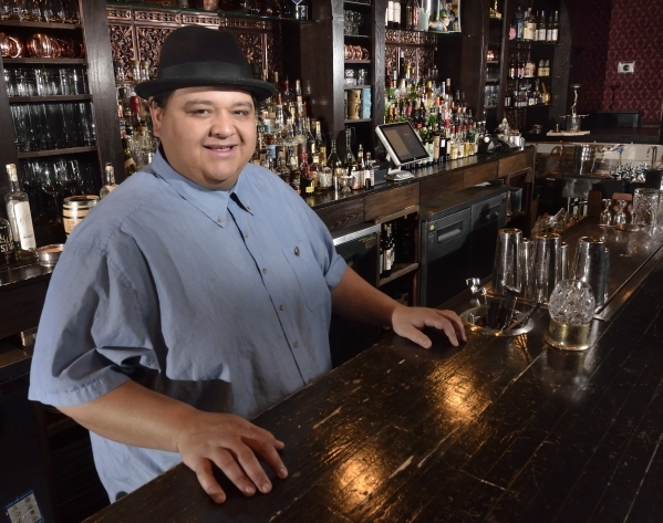 Nectaly Mendoza, owner of Herbs and Rye, is shown at his bar and restaurant at 3713 W. Sahara Ave. in Las Vegas on Wednesday, Feb. 10, 2016. Bill Hughes/Las Vegas Review-Journal