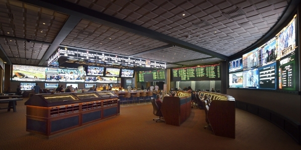 Part of the interior of the new Race and Sports Book is shown at the Cosmopolitan hotel-casino at 3708 Las Vegas Blvd. S. on Friday, Feb. 12, 2016. Bill Hughes/Las Vegas Review-Journal