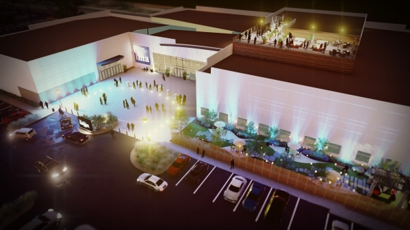 An artist's rendering shows the planned Enclave events venue in Henderson. (Courtesy)
