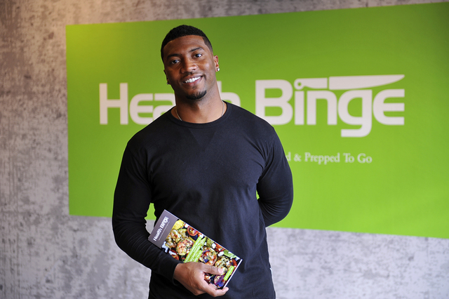 Former NFL captain Gerome Sapp is the founder and CEO of Health Binge, a new healthy, gourmet grab-and-go-meals retail concept. (Courtesy)
