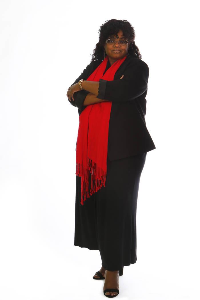 Monique Harris, executive director of Southern Nevada Children First, photographed in the RJ studio on Friday, March 17, 2017. (David Guzman/Las Vegas Review-Journal) @DavidGuzman1985