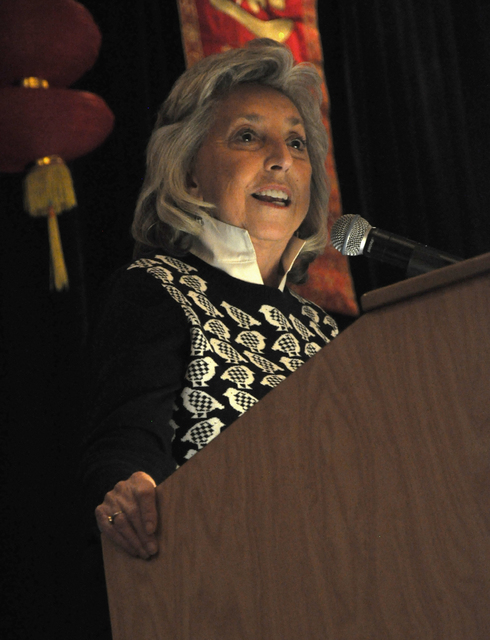 Congresswoman Dina Titus was presented with the Community Achievement - Elected Public Servant Award by the Las Vegas Asian Chamber of Commerce during the organization's annual gala at the Gold Co ...