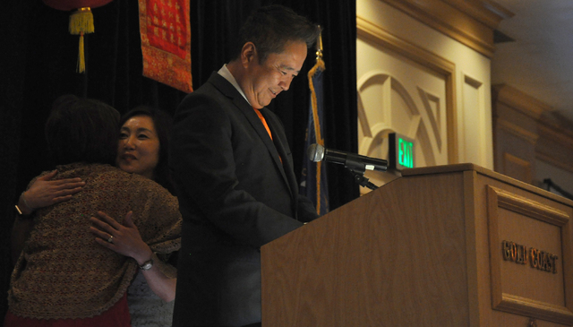 Kenneth J and Nami Lee of the Lee's Helping Hand was presented with the Community Achievement - Community Servie Award by the Las Vegas Asian Chamber of Commerce during the organization's annual g ...