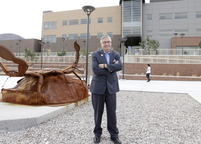 Bart Patterson, Nevada State College president, poses for a photo on the campus, Thursday, Oct. 27, 2016, in Henderson. Bizuayehu Tesfaye/Las Vegas Review-Journal Follow @bizutesfaye