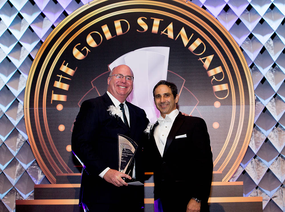 Rod Martin with Majestic Realty Co. received the Principal Member of the Year at the 2017 NAIOP Southern Nevada held its 20th annual Spotlight Awards. (Theresa McNally/Las Vegas Business Press)