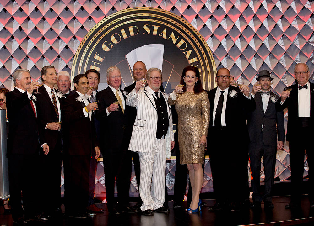 The past presidents of NAIOP Southern Nevada celebrated the organization's 20th annual awards ceremony held March 4 at Red Rock Resort. (Theresa McNally/Las Vegas Business Press)
