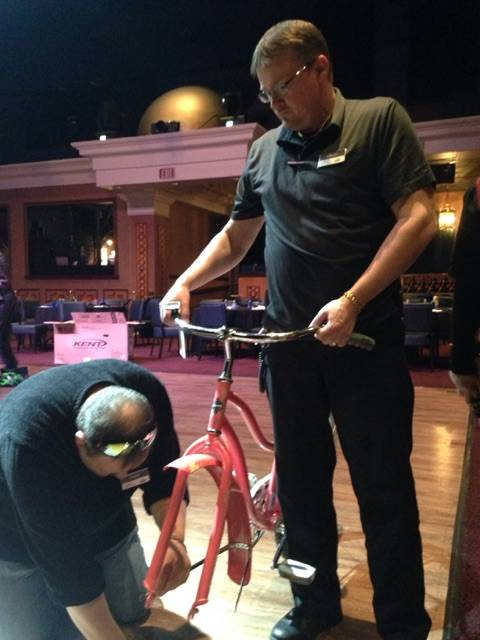 Thirty managers from Sunset Station Hotel and Casino gathered at Club Madrid Mar. 2 to assemble bikes for eight selected children from Howard E. Hollingsworth Elementary as part of the company's S ...