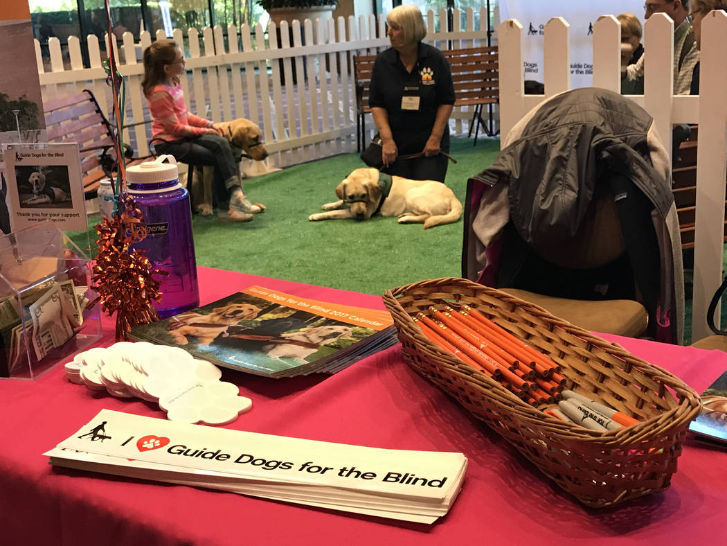 Guide Dogs for the Blind set up a booth at the MGM Grand March 1 to spread awareness at the Higher Education User Group's Alliance 2017 event. (Buford Davis/Las Vegas Business Press)