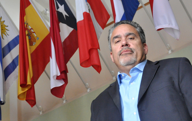 Peter Guzman, president of the Las Vegas Las Vegas Latino Chamber of Commerce, is optimistic about the push for diversity for Latinos in the region's  larger businesses. (Buford Davis/Las Vegas Bu ...