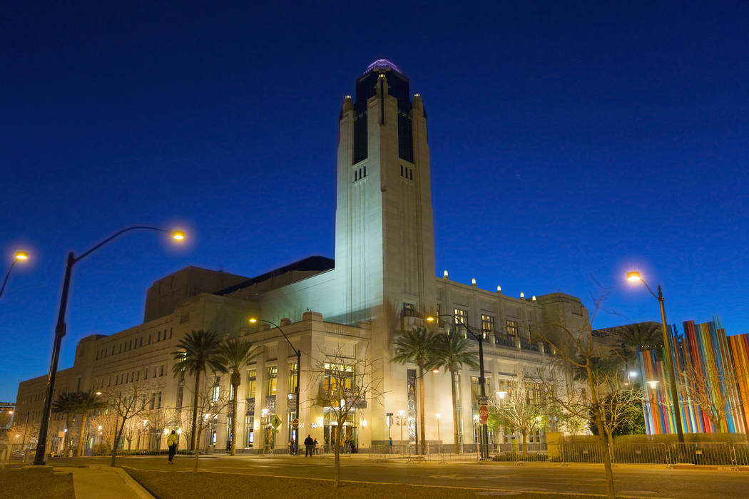 Las Vegas Review-Journal file photo The Smith Center which is part of Symphony Park, is shown at dusk on March 1.
