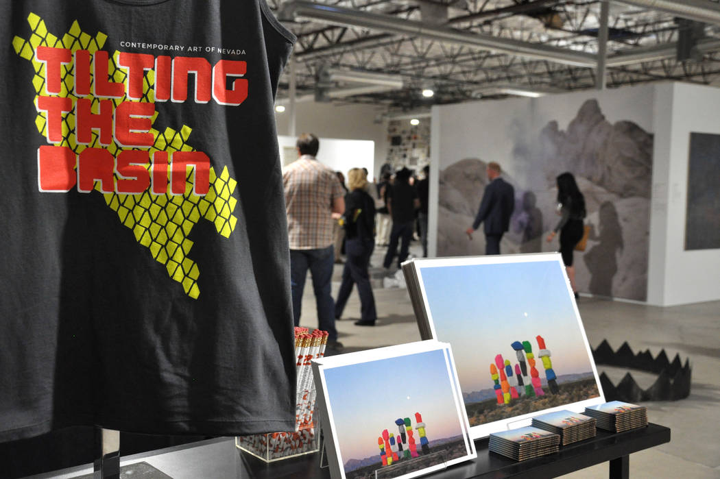 Tilting the Basin, a 10-week exhibit presented by the Nevada Museum of Art and Art Museum at Symphony Park, opened Mar. 16 at a pop-up gallery space in Downtown Las Vegas, 920 S. Commerce St. Phot ...