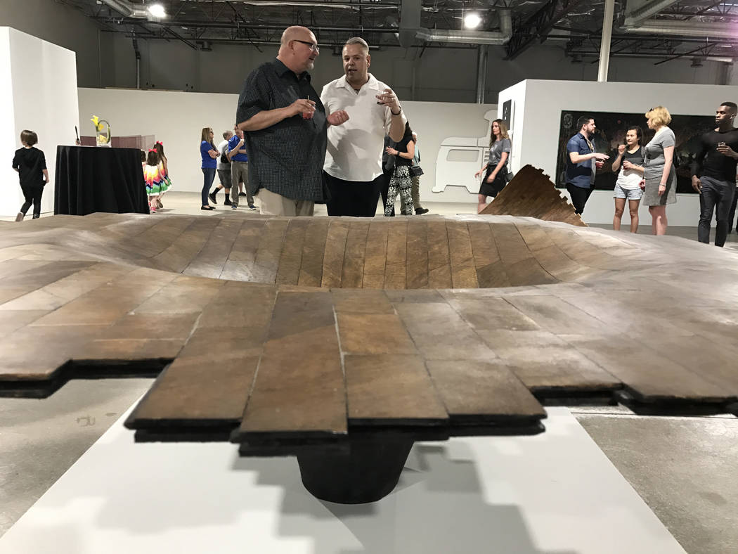 Works by artist Brent Sommerhauser are featured at Tilting the Basin, a 10-week exhibit presented by the Nevada Museum of Art and Art Museum at Symphony Park.