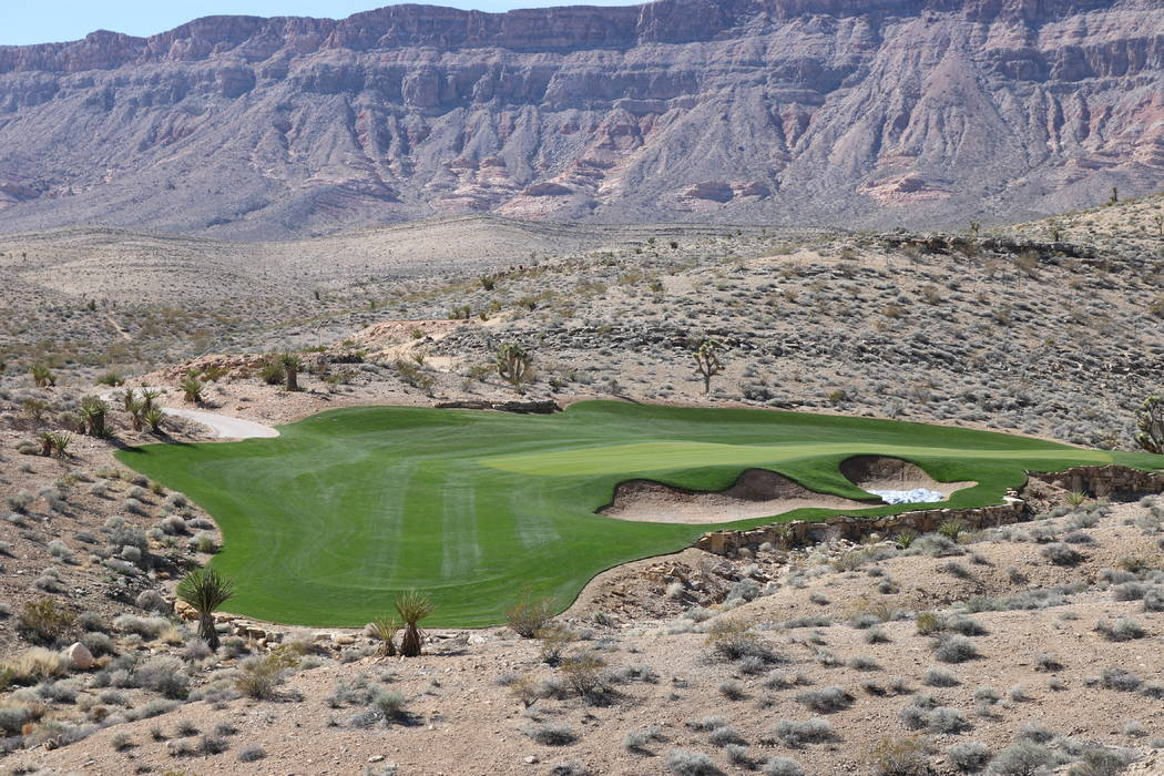 Courtesy The Summit Club's Hole No. 2 facing west shows the desert landscaping near the Spring Mountains.