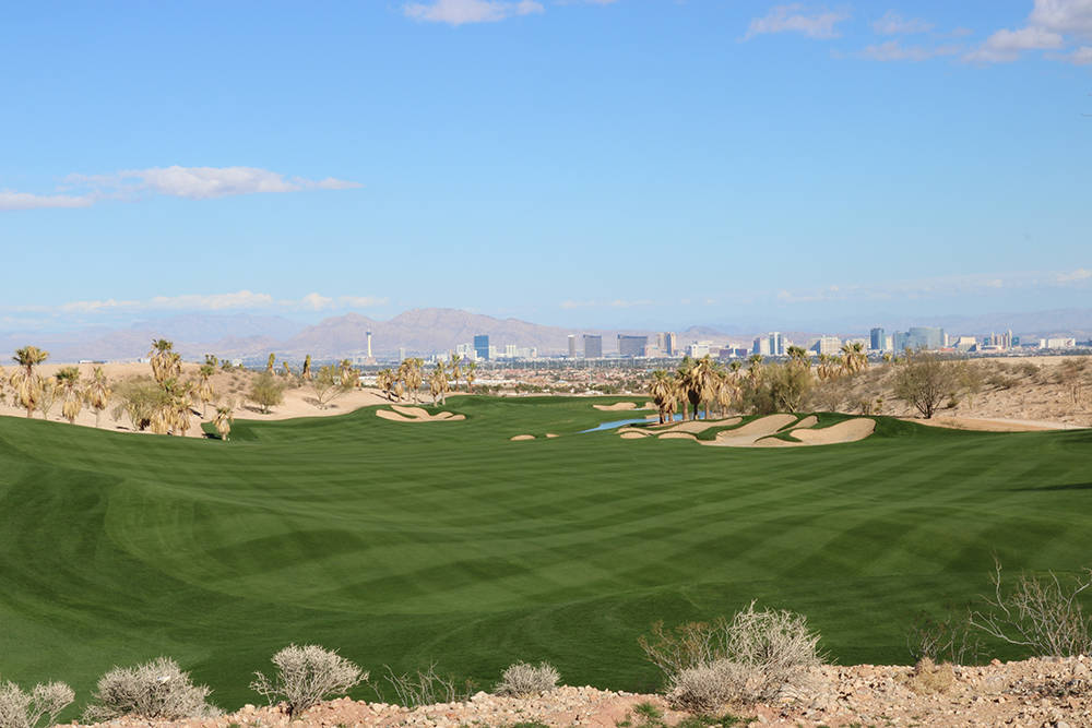 The crown jewel of Discovery Land and Howard Hughes Corp.'s The Summit Club is a Tom Fazio championship golf course with Strip views.