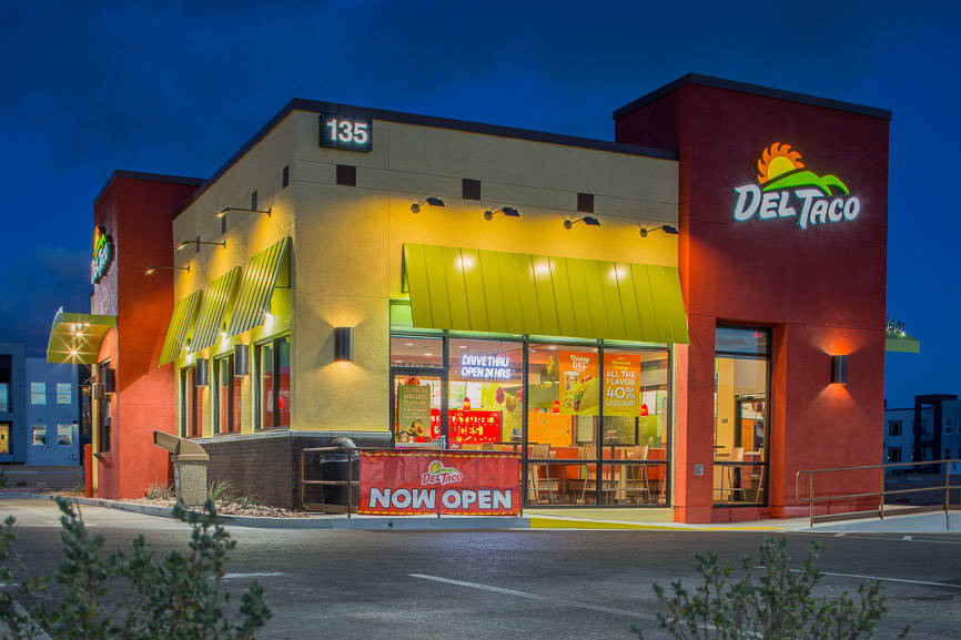 COURTESY DC Building Group completes work on 2,500-square-foot Del Taco at 135 N. Stephanie St.