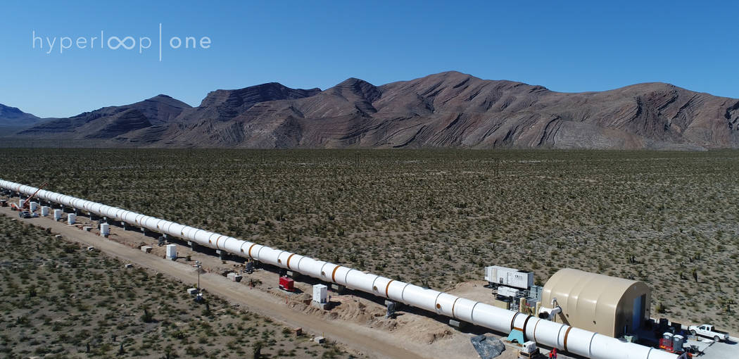 HyperLoop One recently constructed a DevLoop test track system in North Las Vegas. The test environment will use a vacuum pump to reduce air pressure within the tube to test a full-scale Hyperloop ...