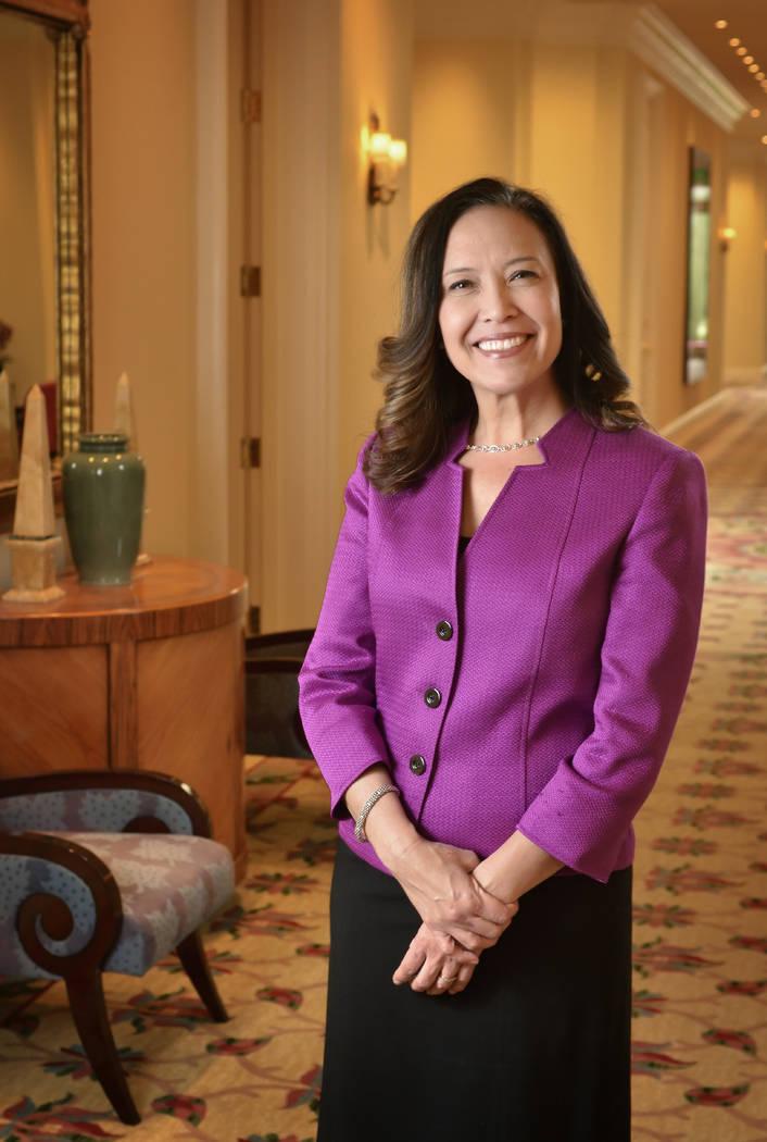 Bill Hughes/Las Vegas Business Press Michelle Ditondo, senior vice president of human resources for MGM Resorts International, at the Bellagio.