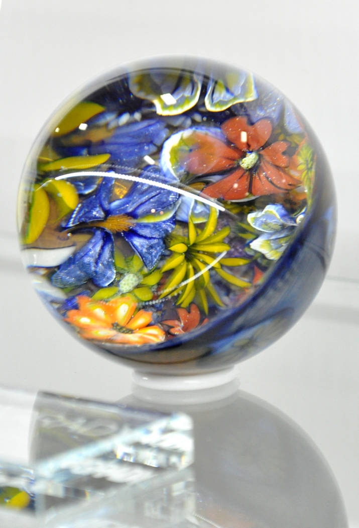 Workby Kevin O'Grady was displayedat the Glass Craft and Bead Expo, Mar. 29-Apr. 2 at the South Point Hotel and Casino. The annual event is the largest glass craft exposition in the United States. ...