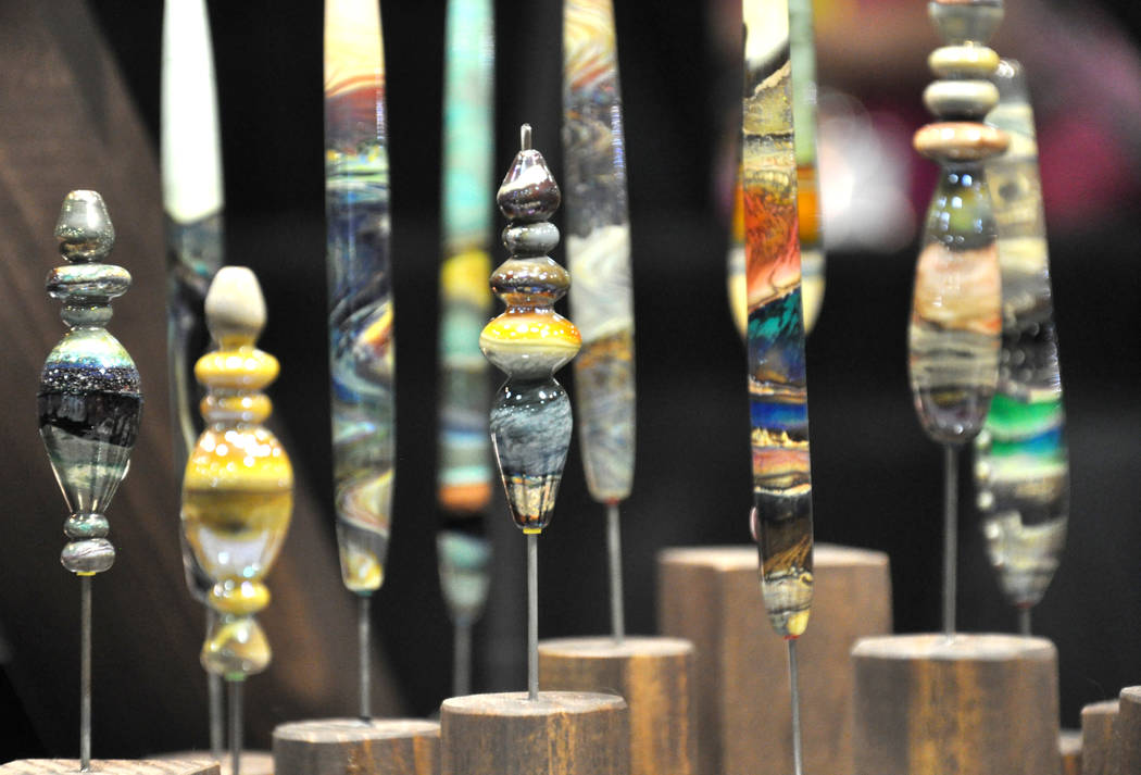 The Glass Craft and Bead Expo 2017 featured work by Dvora Silberman. The annual event is the largest glass craft exposition in the United States. Photo by Buford Davis / Las Vegas Business Press