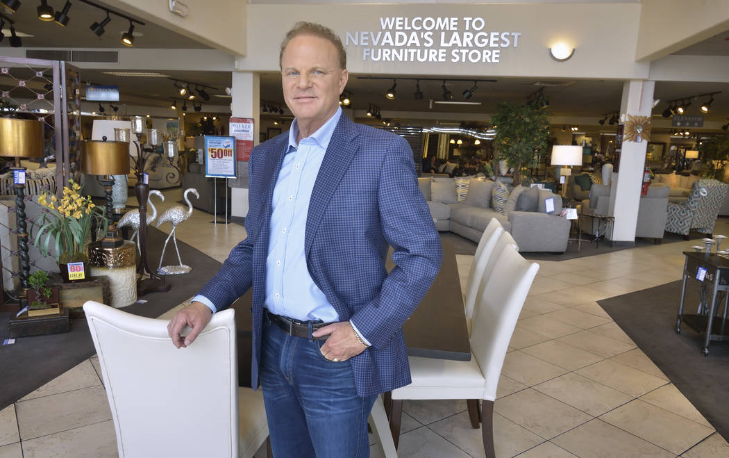 Walker Furniture CEO Larry Alterwitz is shown in the company showroom at 301 S. Martin Luther King Blvd. The company purchased 14 acres adjacent to IKEA in the southwest valley. (Bill Hughes/Las V ...