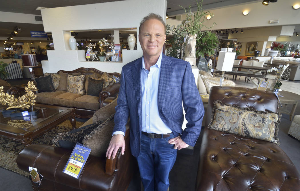 Walker Furniture CEO Larry Alterwitz is shown in the company showroom at 301 S. Martin Luther King Blvd. The company is building a second location in the southwest valley. (Bill Hughes/Las Vegas B ...
