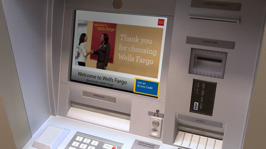 COURTESY Late last month, Wells Fargo launched its card-free ATMs for its 321 ATMs across Nevada as part of a nationwide launch for its 20 million mobile customers. Other national banks are expect ...