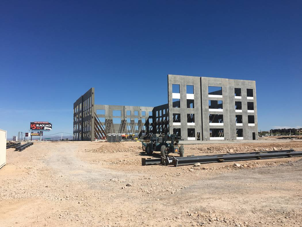 Courtesy Credit One Bank makes progress at its 152,000-square-foot headquarters, south of the 215 Beltway, between Durango and Buffalo drives. The project is scheduled to be completed at the end o ...