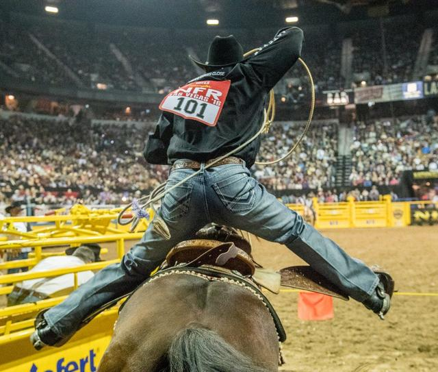 Night 10 of the 2016 Wrangler National Finals Rodeo at the Thomas & Mack Center on Saturday, Dec. 10, 2016, in Las Vegas. (Tom Donoghue)