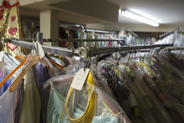 Thousands of costumes are stored on the second floor of Williams Costume as pictured on Thursday, Feb. 16, 2017, in Las Vegas. (Bridget Bennett/Las Vegas Business Press)