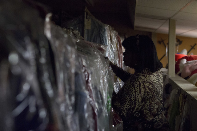Manager Glenda Scott makes her way through the second floor of Williams Costume, where thousands of costumes are stored, on Thursday, Feb. 16, 2017, in Las Vegas. Scott has worked at Williams Cost ...