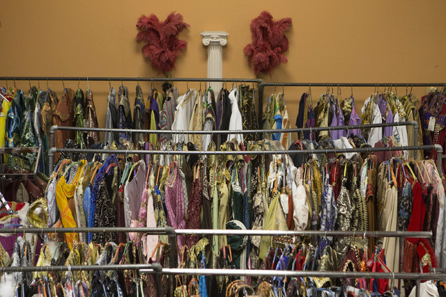 Racks upon racks of costumes are on display at Williams Costume on Thursday, Feb. 16, 2017, in Las Vegas. The costume shop has more than 7,000 costumes. (Bridget Bennett/Las Vegas Business Press)