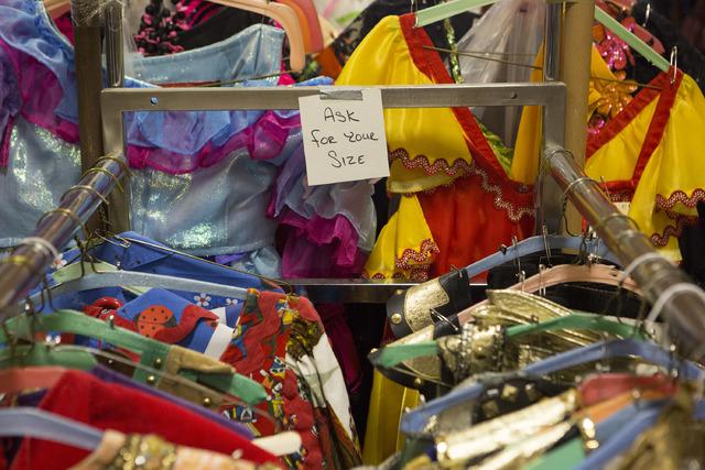 Costumes line the racks at Williams Costume on Thursday, Feb. 16, 2017, in Las Vegas. (Bridget Bennett/Las Vegas Business Press)