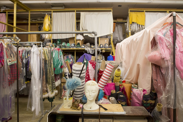 Costumes, accessories, mannequins and tools are stored in a back room at Williams Costume on Thursday, Feb. 16, 2017, in Las Vegas. (Bridget Bennett/Las Vegas Business Press)
