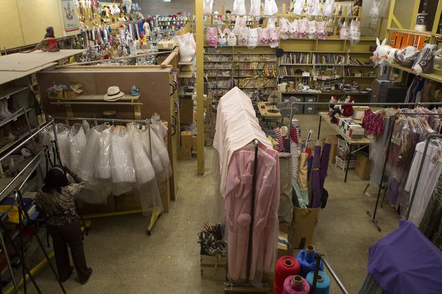 Manager Glenda Scott looks through items at Williams Costume on Thursday, Feb. 16, 2017, in Las Vegas. Scott has worked at Williams Costume for 20 years. (Bridget Bennett/Las Vegas Business Press)