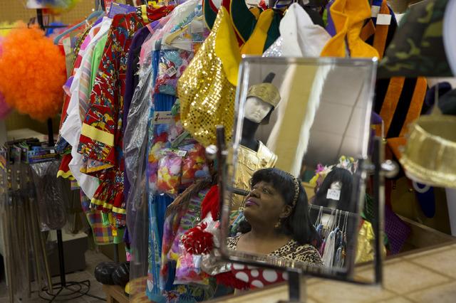Manager Glenda Scott looks through items at Williams Costume on Thursday, Feb. 16, 2017, in Las Vegas. Scott has worked at Williams Costume for 20 years. (Bridget Bennett/View) @bridgetkbennett
