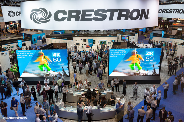 The latest in 4k digital technology will be on display as InfoComm returns this week to Las Vegas, a city in love with digital signage. Courtesy Crestron Electronic