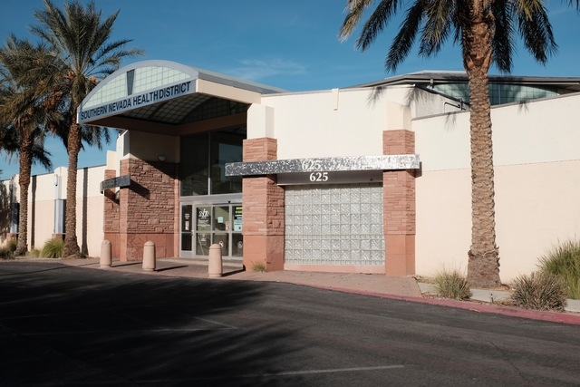 The former Southern Nevada Health District building at 625 Shadow Lane. (Ulf Buchholz/Las Vegas Business Press)