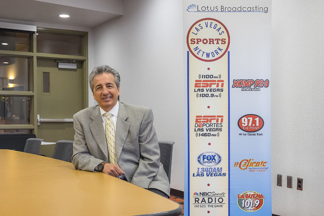 Tony Bonnici, general manager of Lotus Communications Las Vegas, leads a lineup of eight sports and music stations. (Ulf Buchholz/Business Press)
