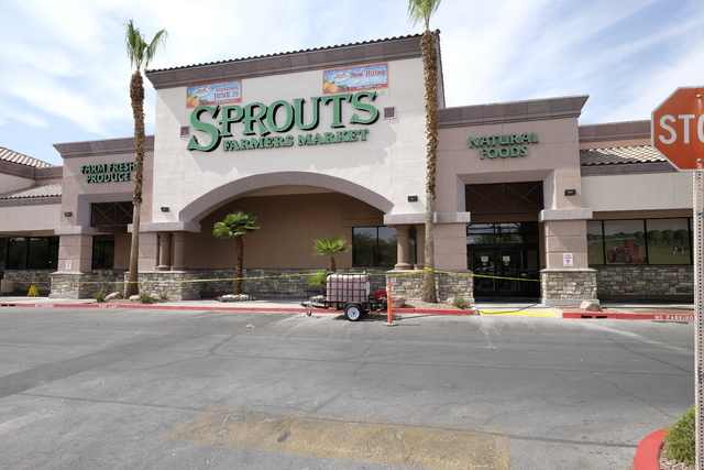The building housing Sprouts store at 7350 W. Lake Mead Blvd. in Las Vegas was recently sold to ValueRock Realty Partners for $8.42 million. Ulf Buchholz/Business Press.