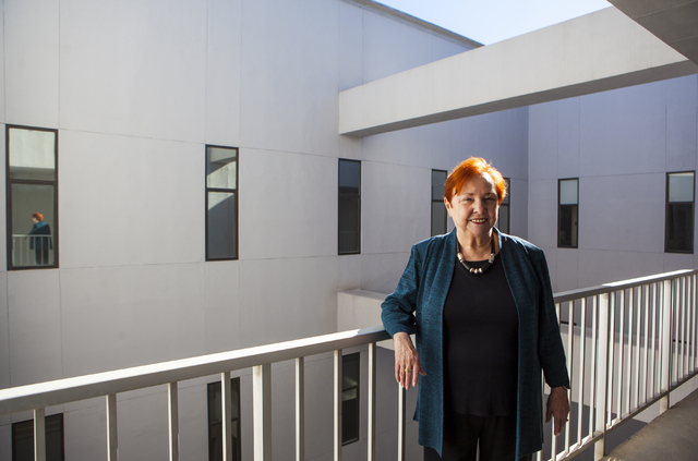 Dr. Barbara Atkinson, dean of the UNLV School of Medicine, poses for a photo in the Flora Dungan Humanities building at UNLV in Las Vegas on Wednesday, Nov. 30, 2016. (Miranda Alam/Las Vegas Revie ...