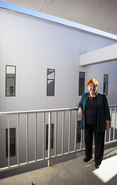 Dr. Barbara Atkinson, dean of the UNLV School of Medicine, poses for a photo in the Flora Dungan Humanities building at UNLV in Las Vegas on Wednesday, Nov. 30, 2016. (Miranda Alam/Las Vegas Revie ...