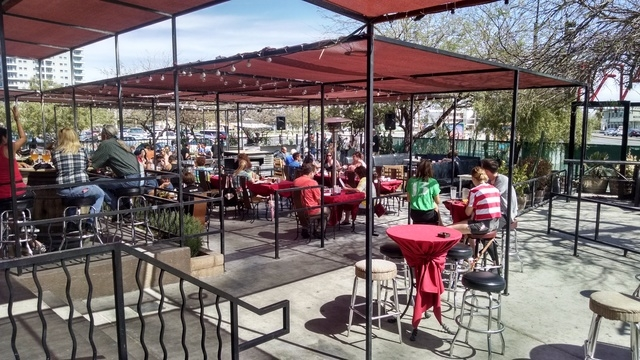 Las Vegas inspectors have halted liquor sales on the four-year-old patio of the Bar & Bistro in a permit dispute. (Photo by Craig A. Ruark, special to the Las Vegas Business Press)