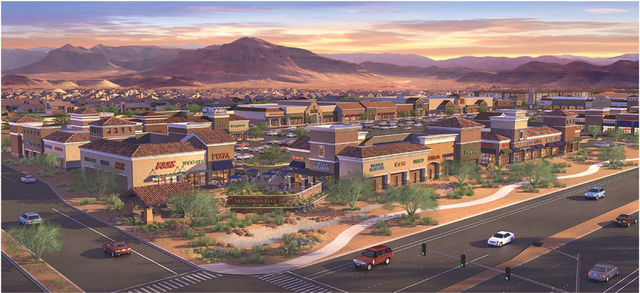 Rendering of the Mountains Edge Marketplace. (Courtesy)