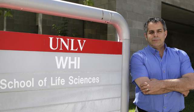 Dr. Martin Schiller, executive director for Nevada Institute of Personalized Medicine, poses for a photo outside UNLV's School of Life Science building on Friday, May 27, 2016. Bizuayehu Tesfaye/S ...