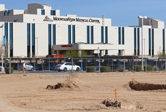Construction for a medical office building is underway at Mountain View Hospital Friday, March 4, 2016, in Las Vegas. The $90 million project is expected to be open next year. Ronda Churchill/Las  ...